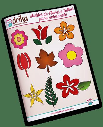 Moldes de Flores e Folhas
