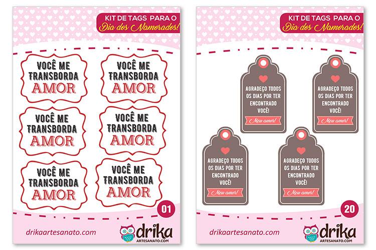 Tag Dia dos Namorados para Imprimir
