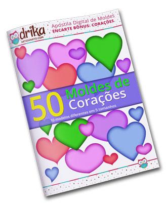 E-book Moldes de Corações