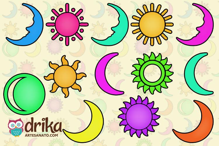 Moldes de Sol e Lua