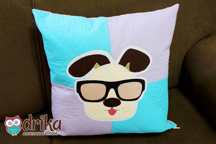 Almofada de Cachorro de Óculos