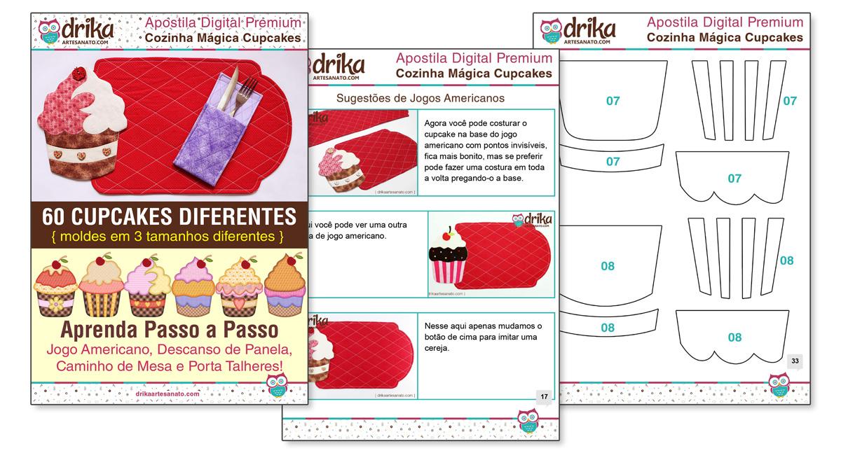 Amostra Jogo Americano de Cupcakes