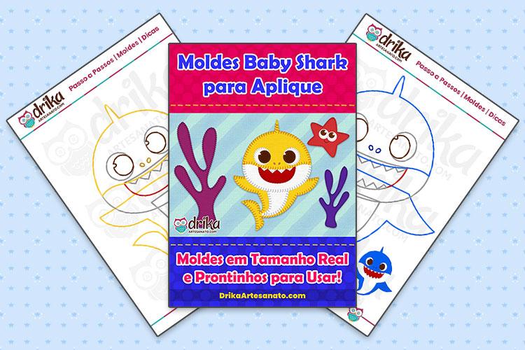 Moldes Baby Shark para Imprimir