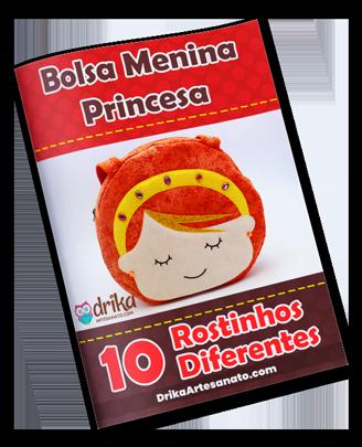 Projeto VIP Bolsa de Tecido Menina Princesa