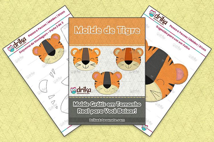 Molde Grátis de Tigre 01