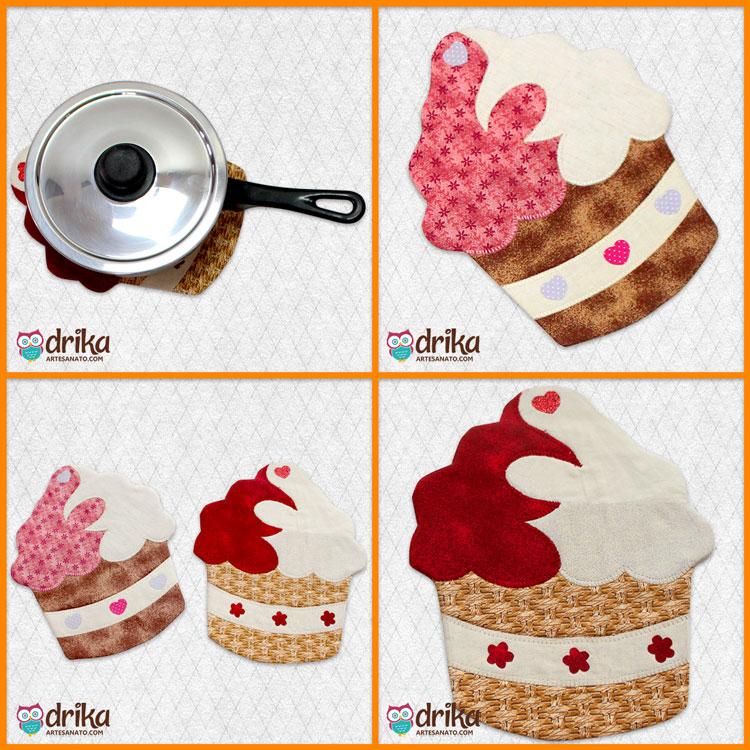 Projeto VIP de Descanso de Panela de Cupcake