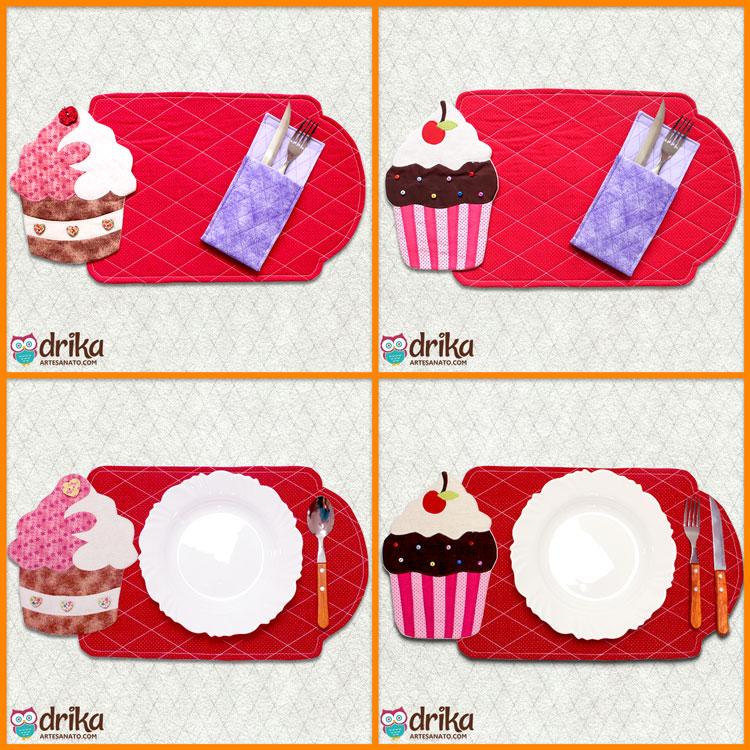 Projeto VIP de Jogo Americano de Cupcakes