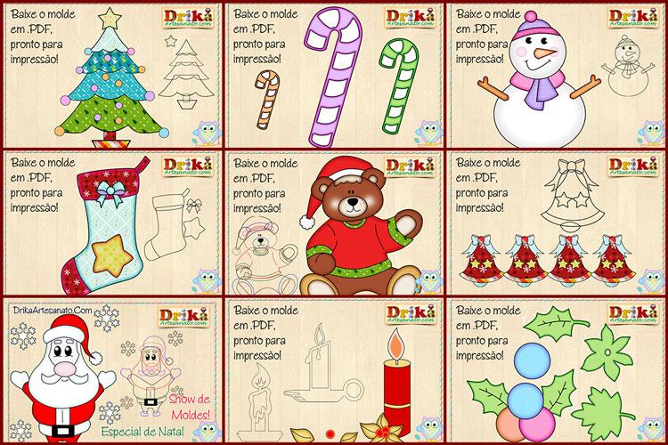 Moldes de Natal para Baixar Grátis